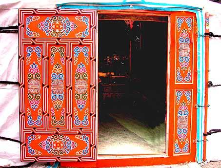 Acheter une yourte fabriqu e en mongolie par des artisans for Porte yourte